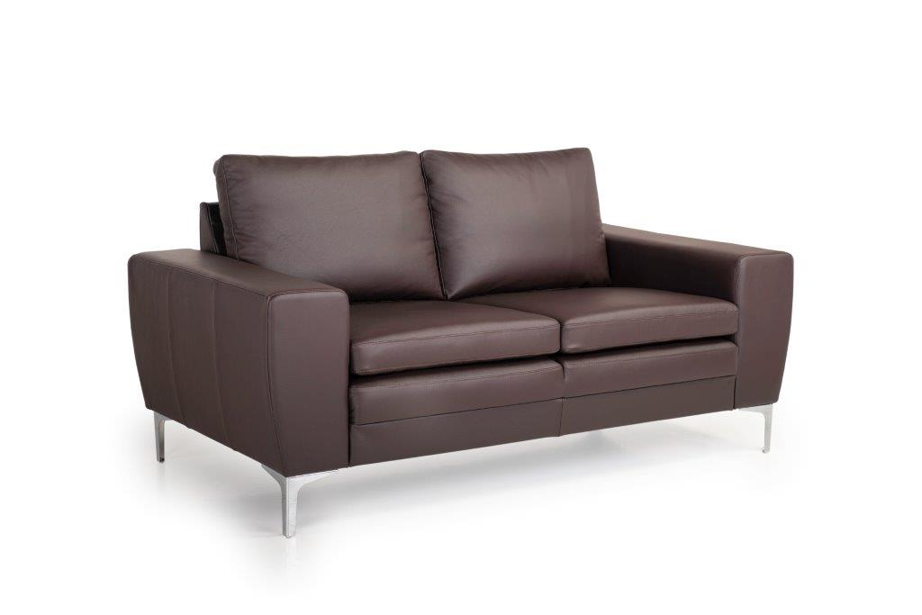 TWIGO 2 seater (SIERA dark brown) side softnord soft nord scandinavian style furniture modern interior design sofa bed chair pouf upholstery