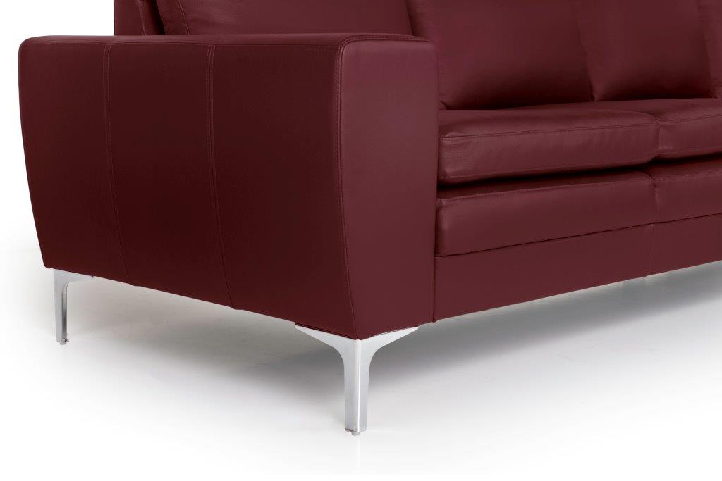 TWIGO 2 seater (SIERA red) arm+leg softnord soft nord scandinavian style furniture modern interior design sofa bed chair pouf upholstery