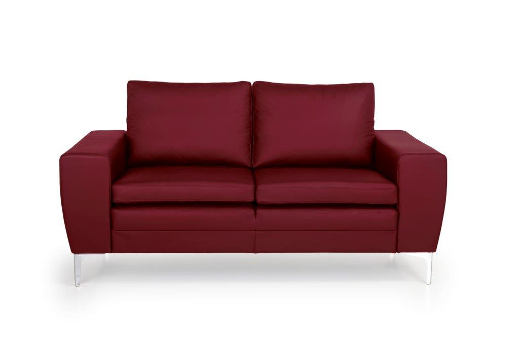 TWIGO 2 seater (SIERA red) front softnord soft nord scandinavian style furniture modern interior design sofa bed chair pouf upholstery