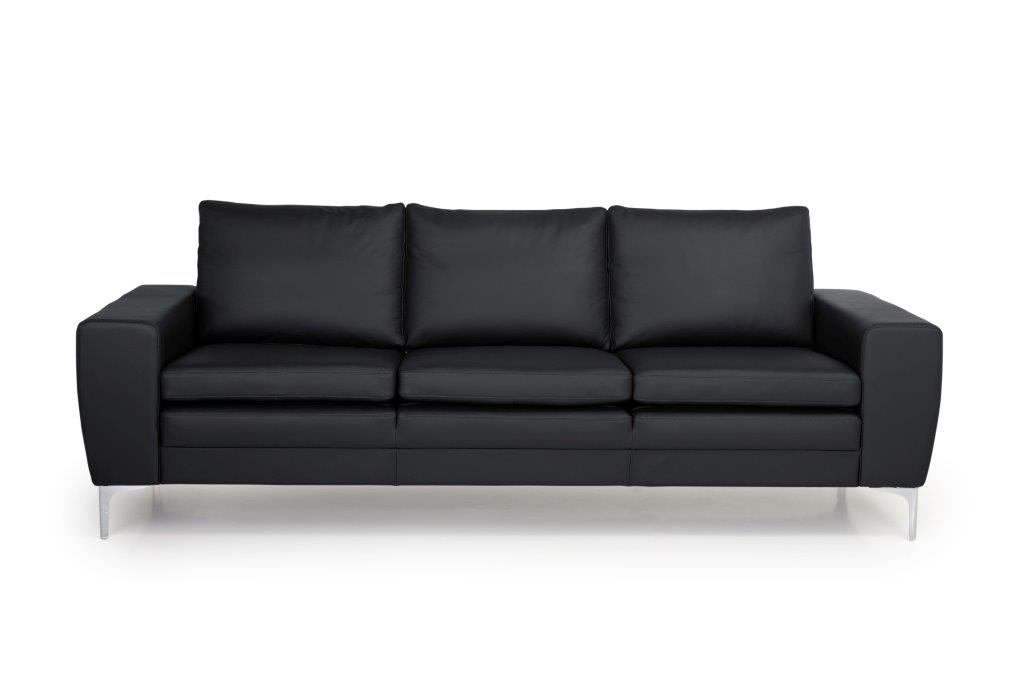 TWIGO 3 seater (SIERA black) front softnord soft nord scandinavian style furniture modern interior design sofa bed chair pouf upholstery