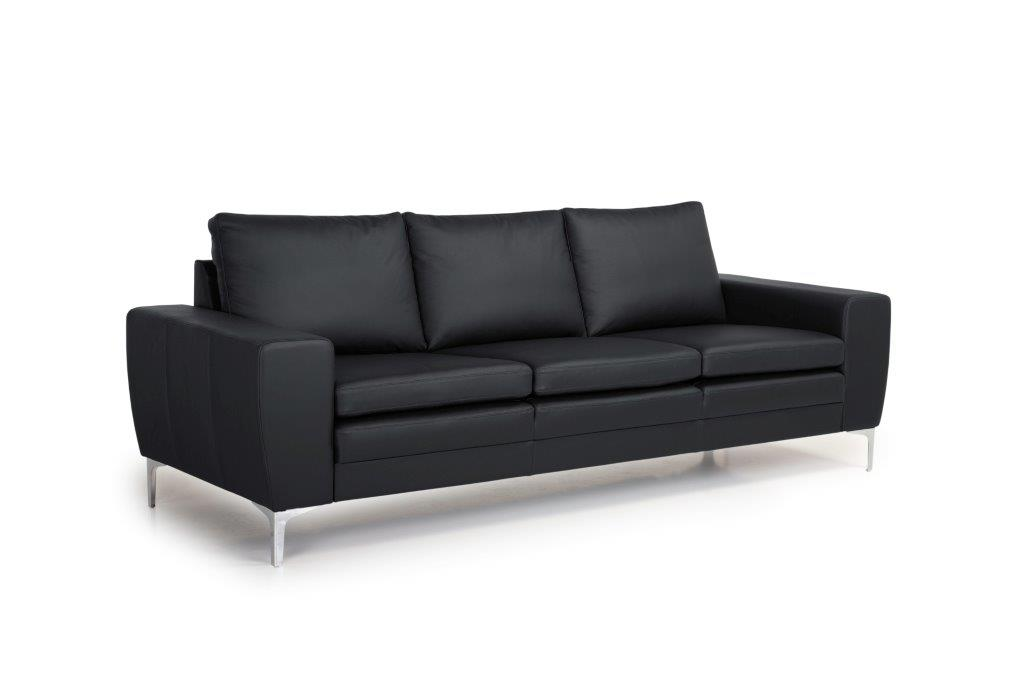 TWIGO 3 seater (SIERA black) side softnord soft nord scandinavian style furniture modern interior design sofa bed chair pouf upholstery