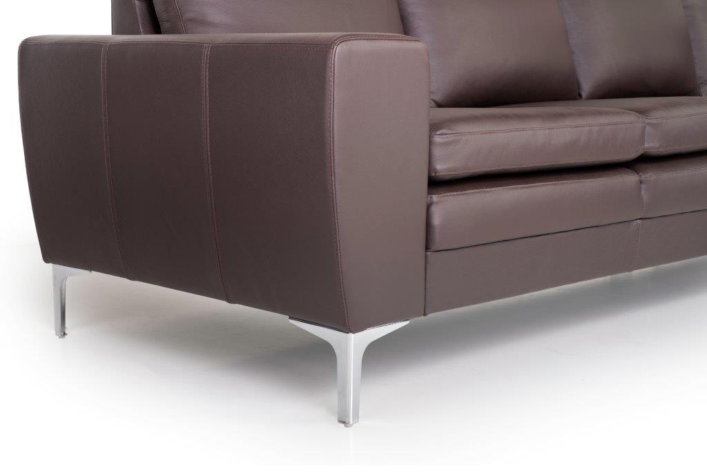 TWIGO 3 seater (SIERA dark brown) arm+leg softnord soft nord scandinavian style furniture modern interior design sofa bed chair pouf upholstery