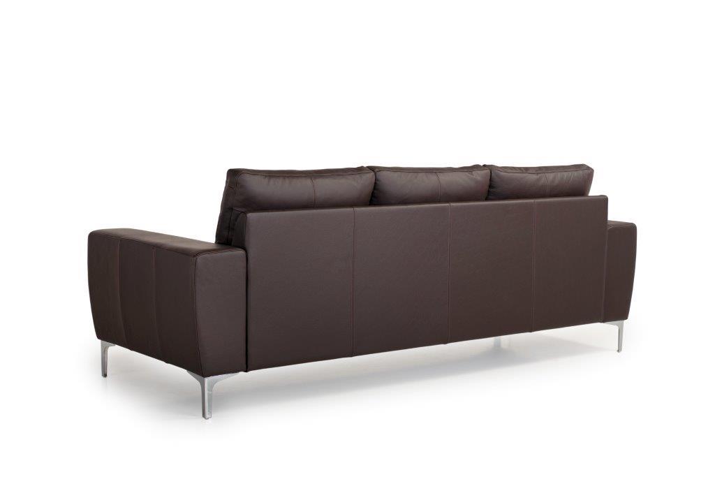 TWIGO 3 seater (SIERA dark brown) back softnord soft nord scandinavian style furniture modern interior design sofa bed chair pouf upholstery