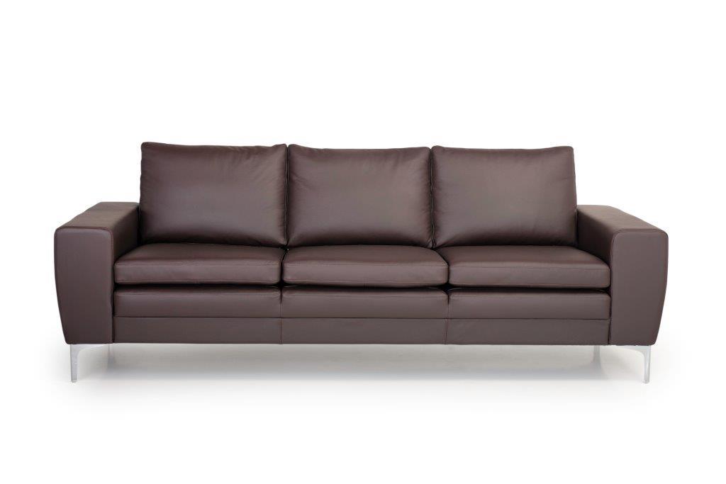 TWIGO 3 seater (SIERA dark brown) front softnord soft nord scandinavian style furniture modern interior design sofa bed chair pouf upholstery