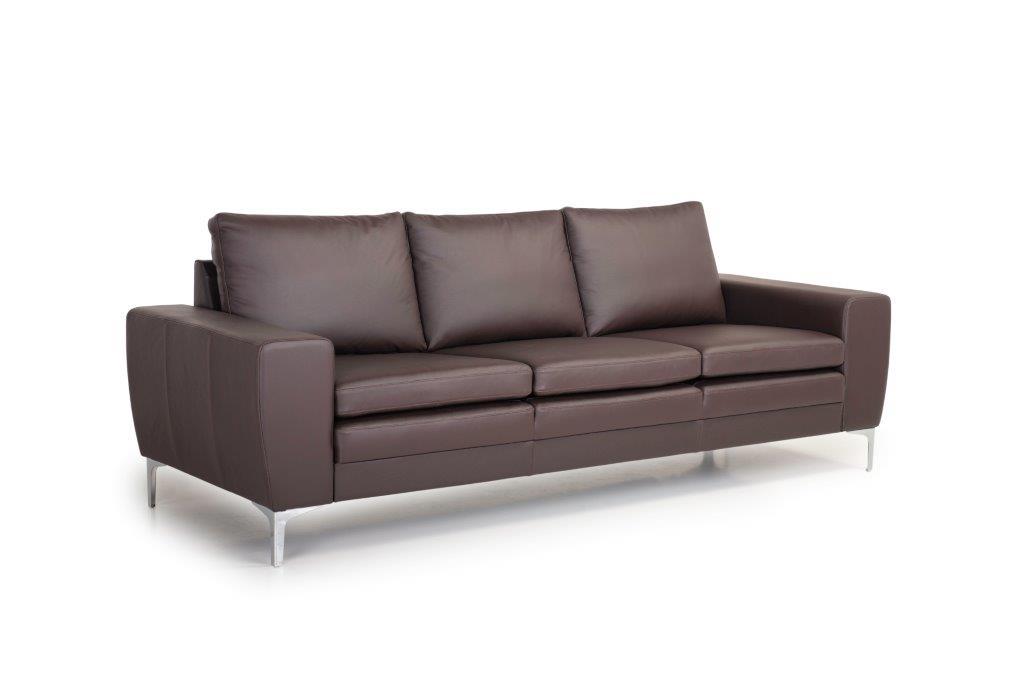 TWIGO 3 seater (SIERA dark brown) side softnord soft nord scandinavian style furniture modern interior design sofa bed chair pouf upholstery