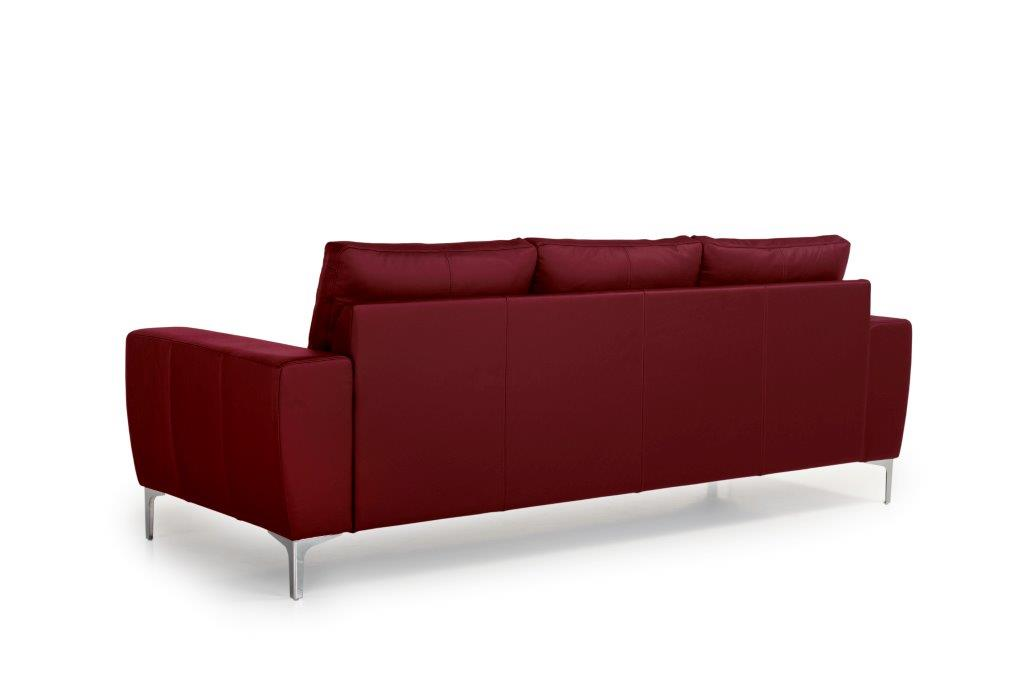 TWIGO 3 seater (SIERA red) back softnord soft nord scandinavian style furniture modern interior design sofa bed chair pouf upholstery