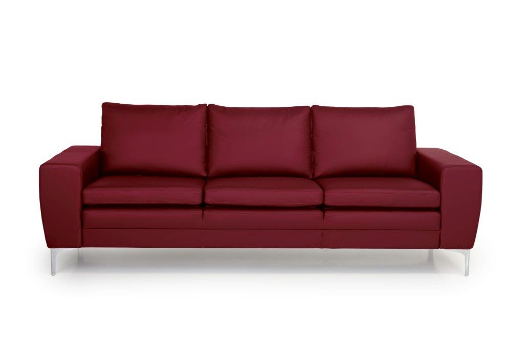TWIGO 3 seater (SIERA red) front softnord soft nord scandinavian style furniture modern interior design sofa bed chair pouf upholstery