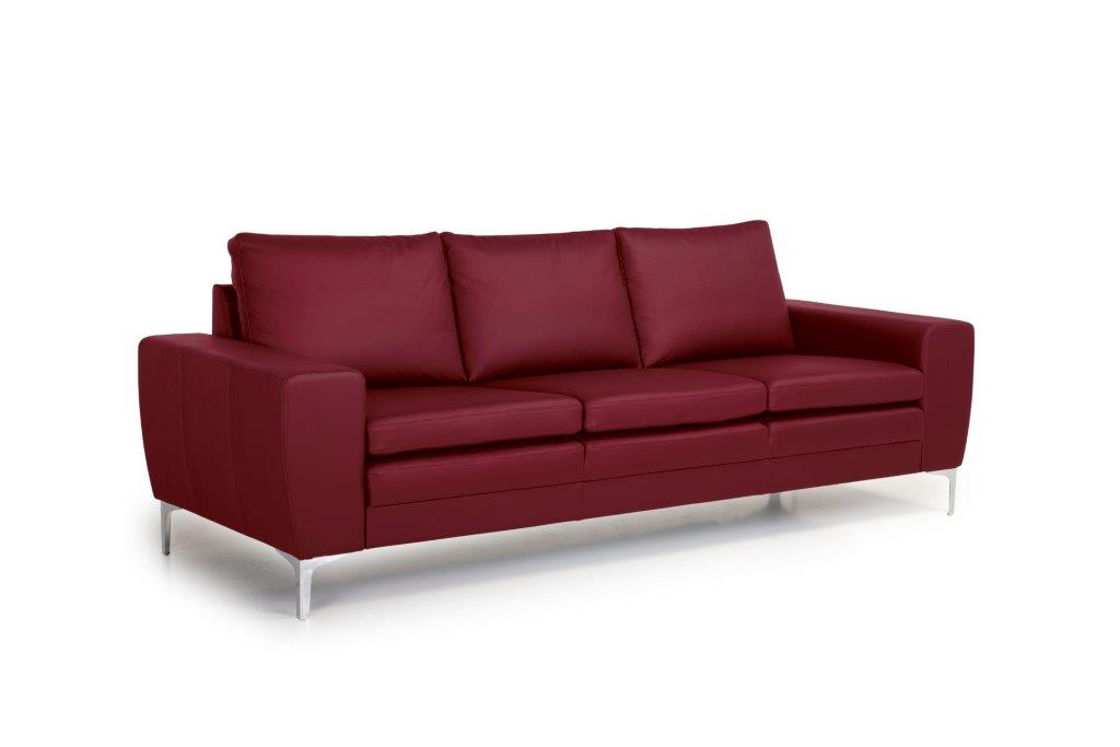 TWIGO 3 seater (SIERA red) side softnord soft nord scandinavian style furniture modern interior design sofa bed chair pouf upholstery
