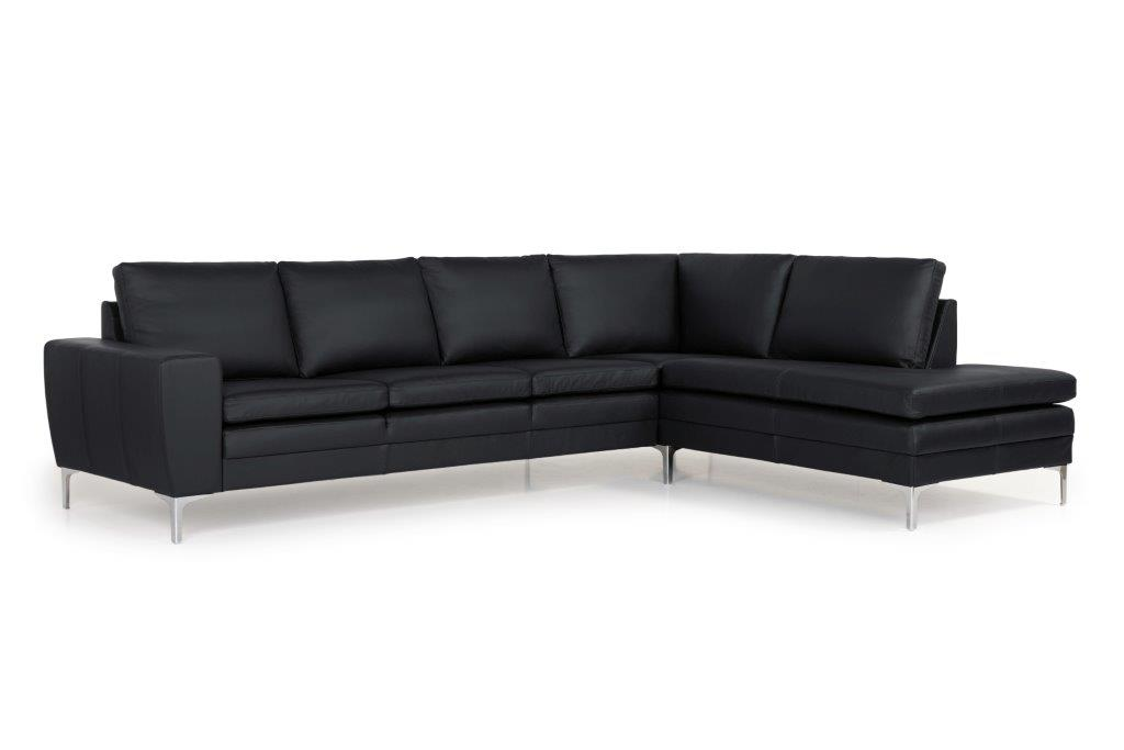 TWIGO open corner with 3 seater (SIERA black) side softnord soft nord scandinavian style furniture modern interior design sofa bed chair pouf upholstery