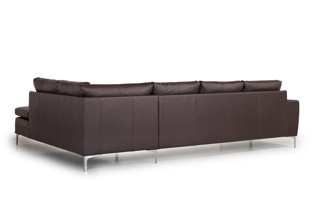 TWIGO open corner with 3 seater (SIERA dark brown) back softnord soft nord scandinavian style furniture modern interior design sofa bed chair pouf upholstery