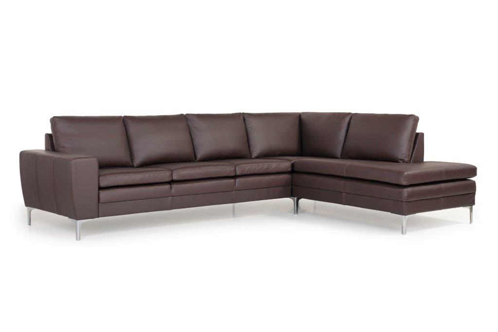 TWIGO open corner with 3 seater (SIERA dark brown) side softnord soft nord scandinavian style furniture modern interior design sofa bed chair pouf upholstery