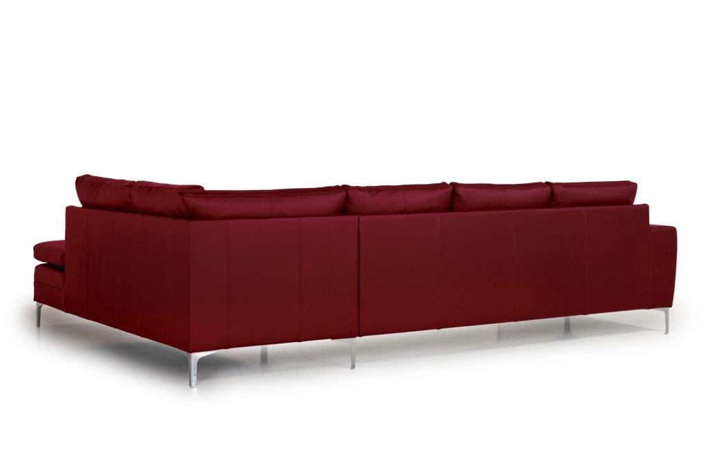 TWIGO open corner with 3 seater (SIERA red) back softnord soft nord scandinavian style furniture modern interior design sofa bed chair pouf upholstery