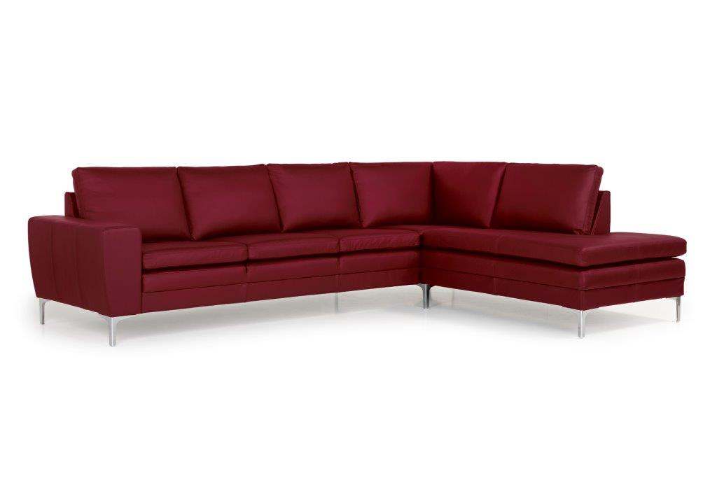 TWIGO open corner with 3 seater (SIERA red) side softnord soft nord scandinavian style furniture modern interior design sofa bed chair pouf upholstery