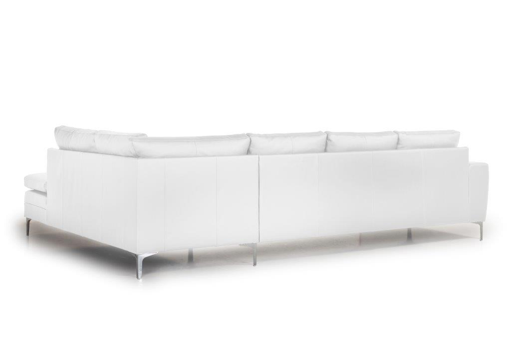 TWIGO open corner with 3 seater (SIERA white) back softnord soft nord scandinavian style furniture modern interior design sofa bed chair pouf upholstery
