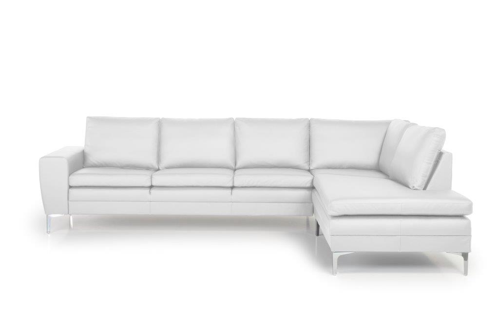 TWIGO open corner with 3 seater (SIERA white) front softnord soft nord scandinavian style furniture modern interior design sofa bed chair pouf upholstery