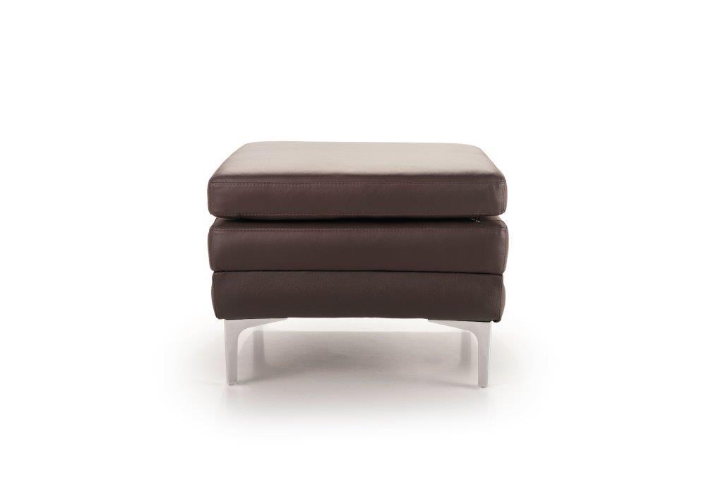 TWIGO pouf (SIERA dark brown) front softnord soft nord scandinavian style furniture modern interior design sofa bed chair pouf upholstery