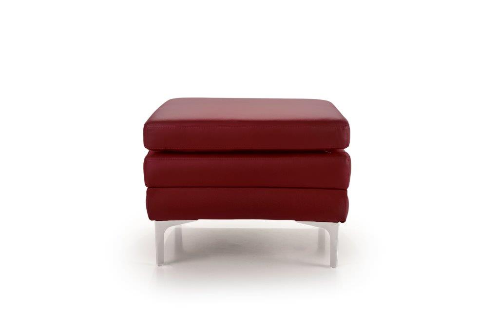 TWIGO pouf (SIERA red) front softnord soft nord scandinavian style furniture modern interior design sofa bed chair pouf upholstery