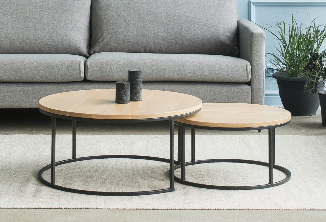 ROUND TABLE SET softnord soft nord scandinavian style furniture modern interior design sofa bed chair pouf upholstery