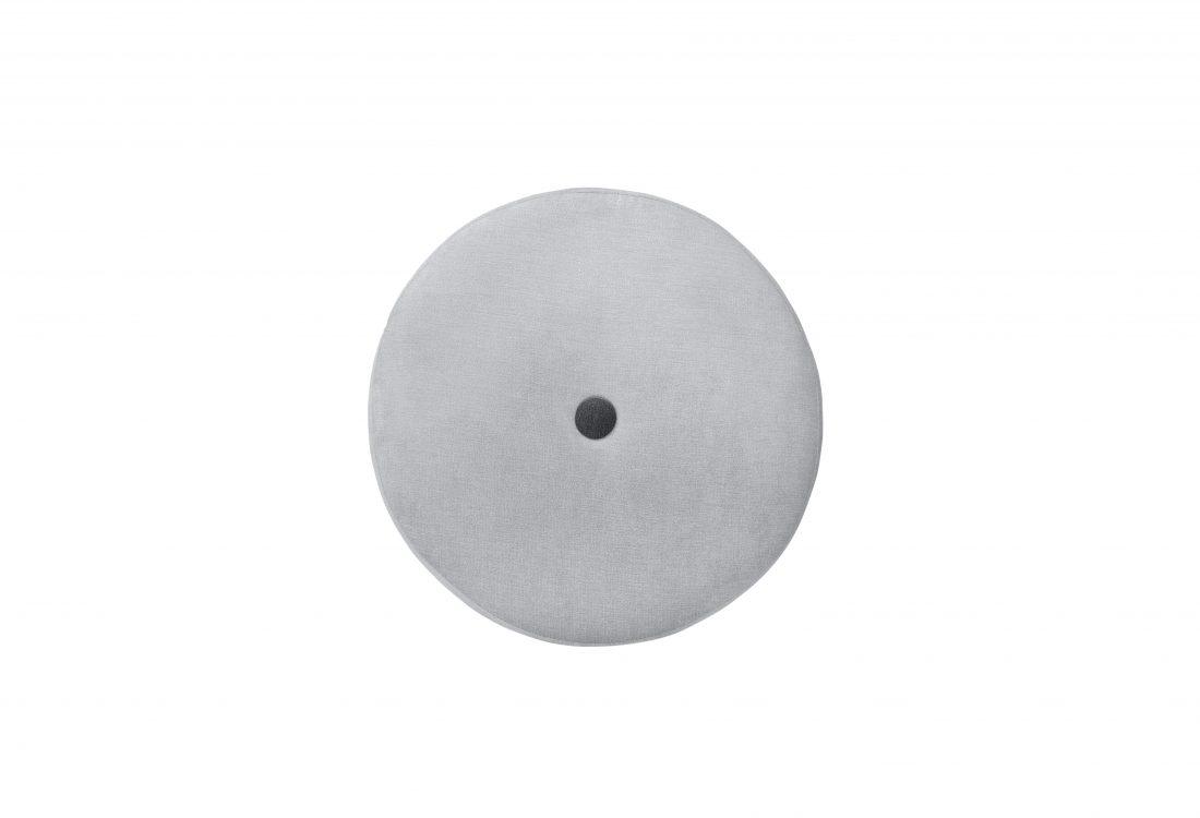 CARATE small pouf (ORINOCO 22 silver_ORINOCO 7 antrazite) top