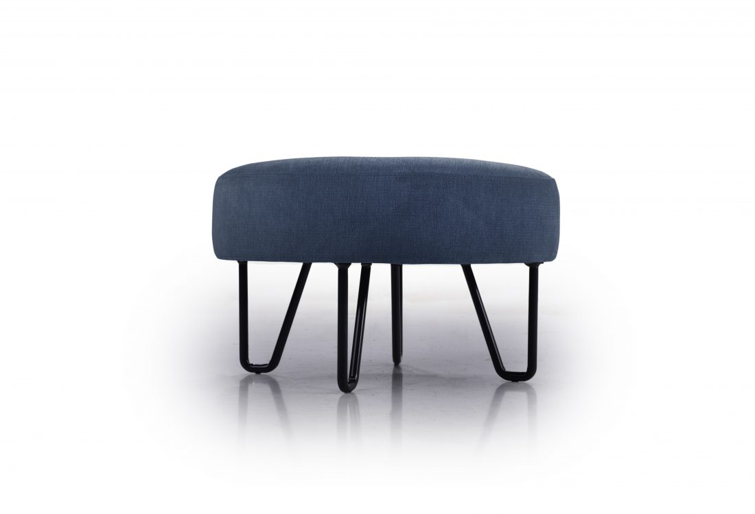 SOVICO small pouf (ORINOCO 16 blue) low front
