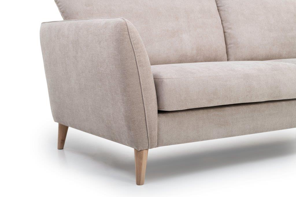PARIS 2 seater (ORINOCO 4 sand) arm+legsoftnord soft nord scandinavian style furniture modern interior design sofa bed chair pouf upholstery