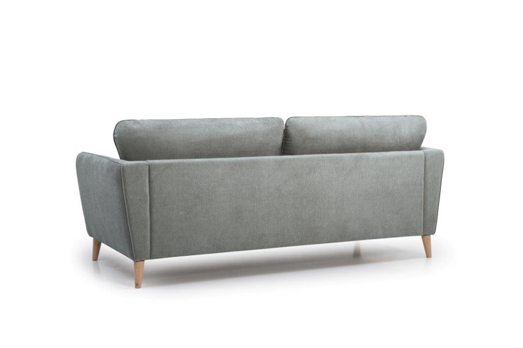 PARIS 3 seater (ORINOCO 3.1 light grey) back softnord soft nord scandinavian style furniture modern interior design sofa bed chair pouf upholstery