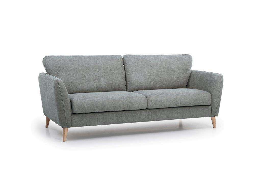 PARIS 3 seater (ORINOCO 3.1 light grey) side softnord soft nord scandinavian style furniture modern interior design sofa bed chair pouf upholstery