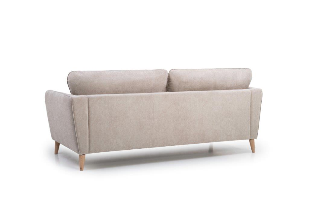 PARIS 3 seater (ORINOCO 4 sand) back softnord soft nord scandinavian style furniture modern interior design sofa bed chair pouf upholstery