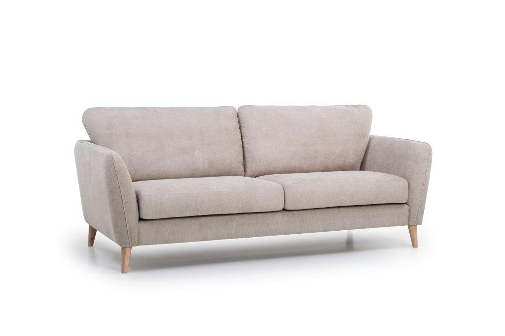 PARIS 3 seater (ORINOCO 4 sand) side softnord soft nord scandinavian style furniture modern interior design sofa bed chair pouf upholstery
