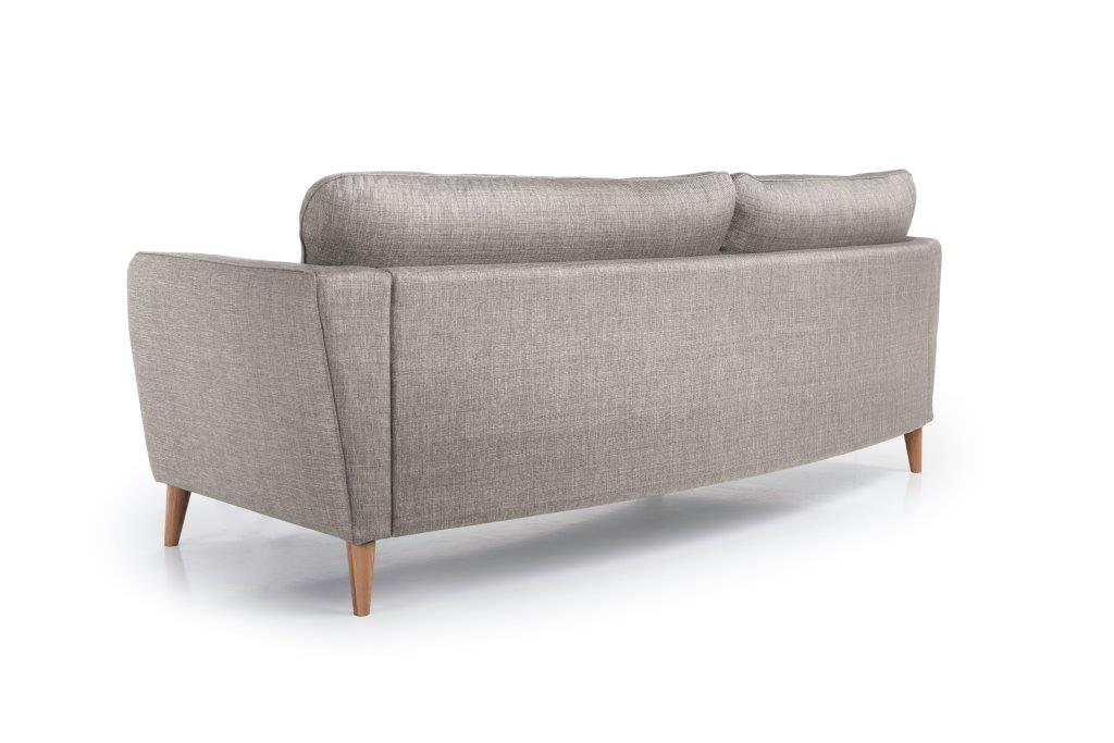 PARIS 3 seater round (NIMES 14 latte) back softnord soft nord scandinavian style furniture modern interior design sofa bed chair pouf upholstery