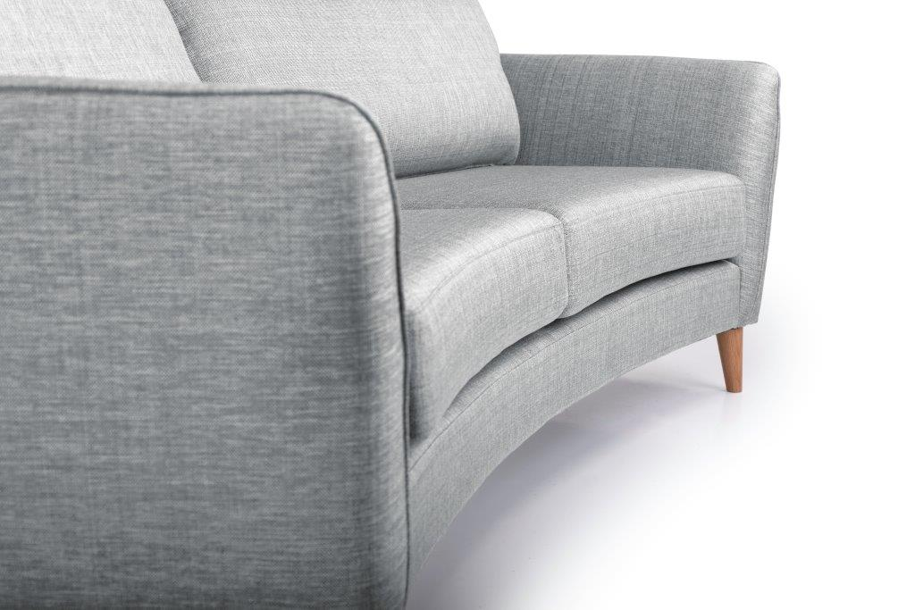 PARIS 3 seater round (NIMES 22 silver) detail softnord soft nord scandinavian style furniture modern interior design sofa bed chair pouf upholstery