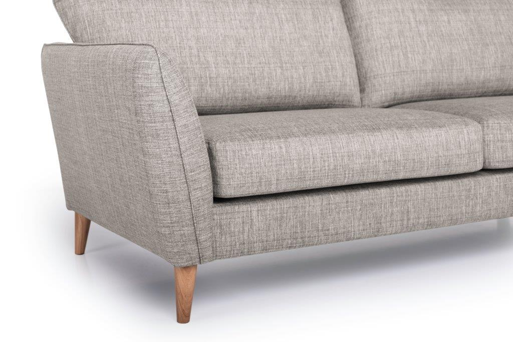 PARIS XL chaiselongue with 3 seater (NIMES 14 latte) arm+leg softnord soft nord scandinavian style furniture modern interior design sofa bed chair pouf upholstery