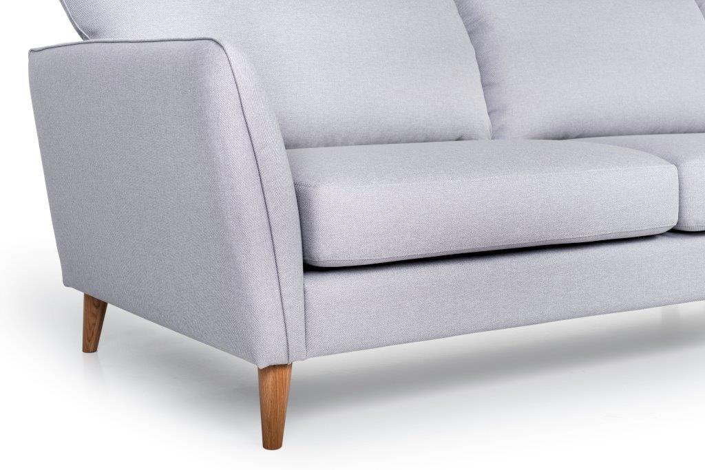 PARIS XL chaiselongue with 3 seater (SALSA 3.3 warm grey) arm+leg softnord soft nord scandinavian style furniture modern interior design sofa bed chair pouf upholstery