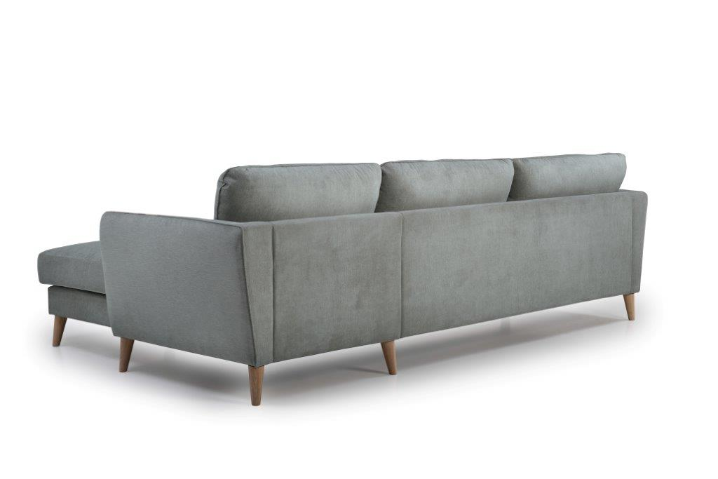 PARIS chaiselongue with 3 seater (ORINOCO 3.1 light grey) back softnord soft nord scandinavian style furniture modern interior design sofa bed chair pouf upholstery