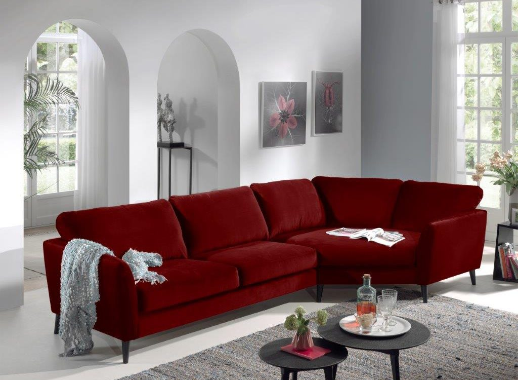 PARIS cosy corner (high rez) (TORO 1 red) softnord soft nord scandinavian style furniture modern interior design sofa bed chair pouf upholstery