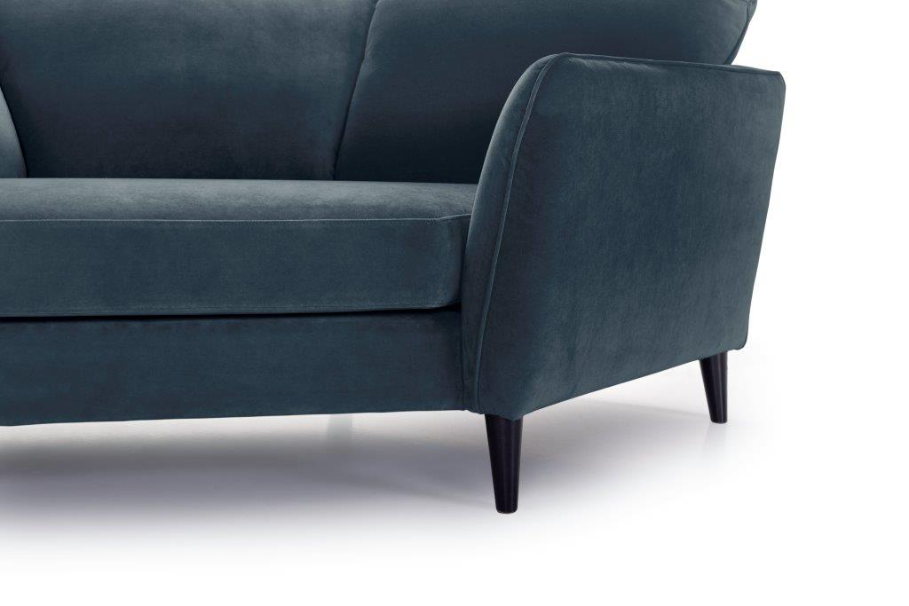 PARIS cosy corner with 3 seater (TRENTO 16 blue) arm+leg softnord soft nord scandinavian style furniture modern interior design sofa bed chair pouf upholstery