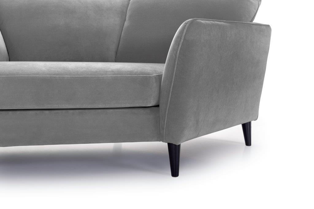 PARIS cosy corner with 3 seater (TRENTO 3 grey) arm+leg softnord soft nord scandinavian style furniture modern interior design sofa bed chair pouf upholstery