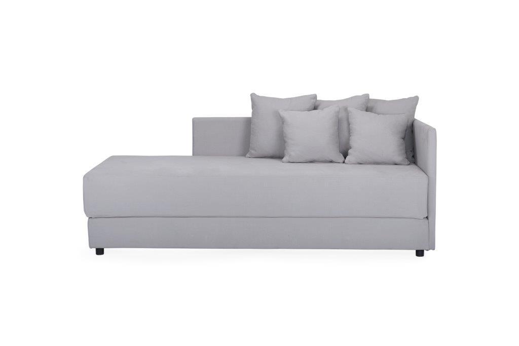 TWAIN sleeping sofa (KENDO 3 grey) (2) softnord soft nord scandinavian style furniture modern interior design sofa bed chair pouf upholstery