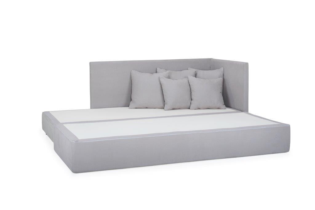 TWAIN sleeping sofa (KENDO 3 grey) (4) softnord soft nord scandinavian style furniture modern interior design sofa bed chair pouf upholstery