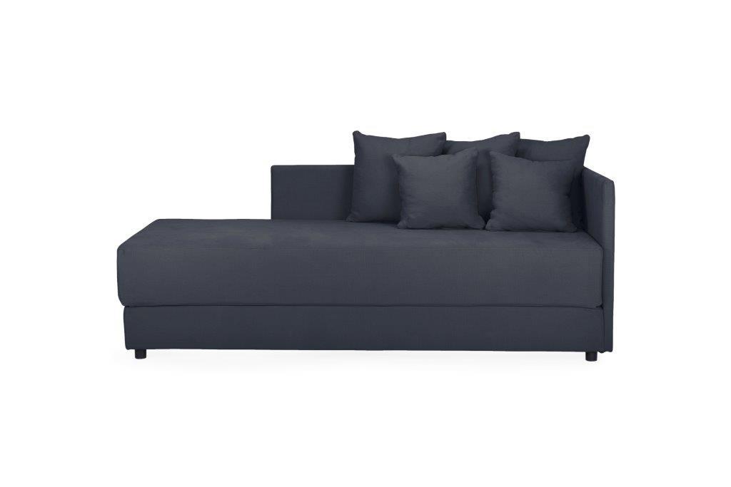 TWAIN sleeping sofa (KENDO 7 antrazite) (6) softnord soft nord scandinavian style furniture modern interior design sofa bed chair pouf upholstery
