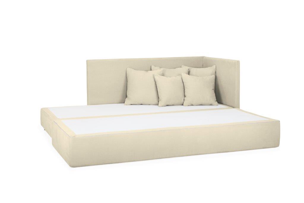 TWAIN sleeping sofa (KENDO 8 beige) (1) softnord soft nord scandinavian style furniture modern interior design sofa bed chair pouf upholstery
