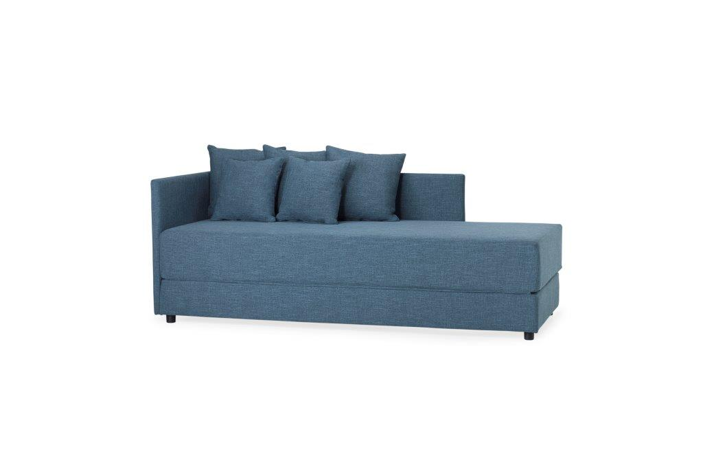 TWAIN sleeping sofa (WESTER 16 blue) (3) softnord soft nord scandinavian style furniture modern interior design sofa bed chair pouf upholstery