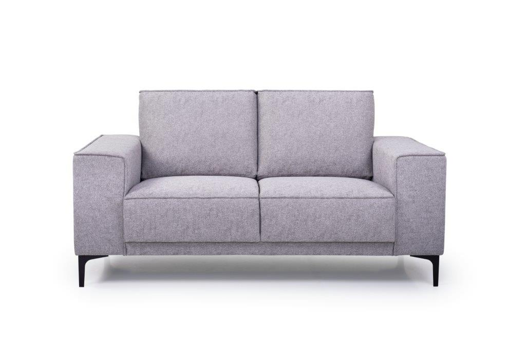 COPENHAGEN 2 seater (GUSTO 3.1 light grey) front softnord soft nord scandinavian style furniture modern interior design sofa bed chair pouf upholstery