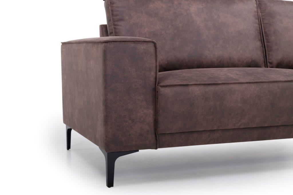 COPENHAGEN 2 seater (PRESTON 29 chocolate) arm+leg softnord soft nord scandinavian style furniture modern interior design sofa bed chair pouf upholstery