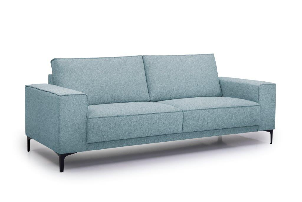 COPENHAGEN 3 seater (GUSTO 29 sapphire) side softnord soft nord scandinavian style furniture modern interior design sofa bed chair pouf upholstery