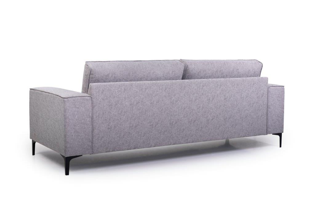 COPENHAGEN 3 seater (GUSTO 3.1 light grey) back softnord soft nord scandinavian style furniture modern interior design sofa bed chair pouf upholstery