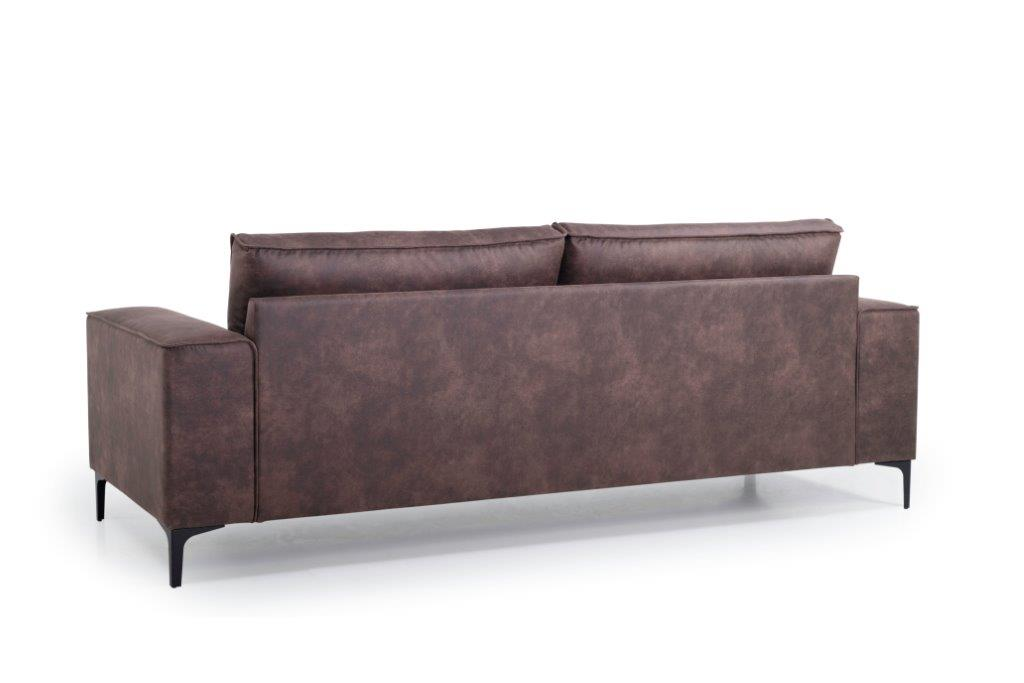 COPENHAGEN 3 seater (PRESTON 29 chocolate) back softnord soft nord scandinavian style furniture modern interior design sofa bed chair pouf upholstery