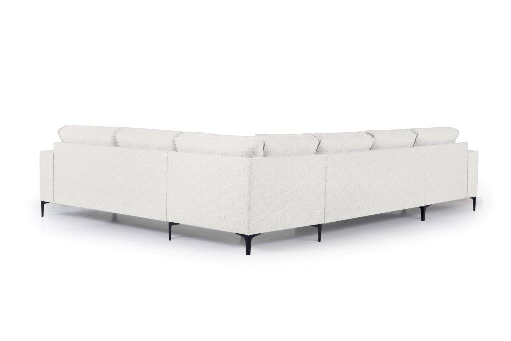 COPENHAGEN U-Corner with 2,5 seater (GUSTO 4 sand) back softnord soft nord scandinavian style furniture modern interior design sofa bed chair pouf upholstery