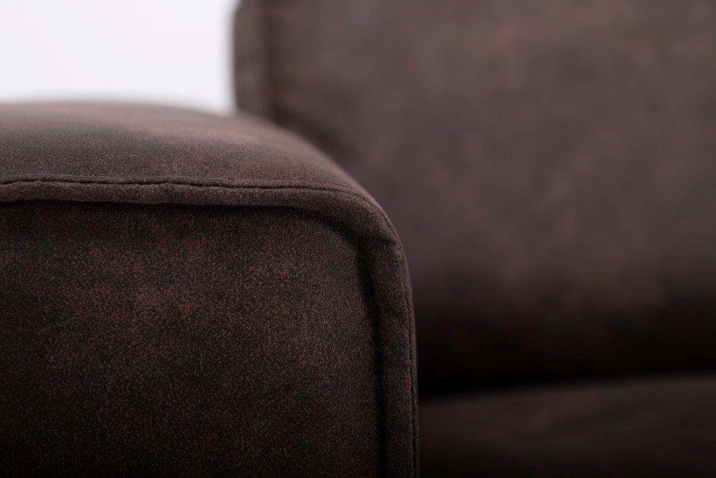 COPENHAGEN U-Corner with 2,5 seater (PRESTON 29 chocolate) detail softnord soft nord scandinavian style furniture modern interior design sofa bed chair pouf upholstery