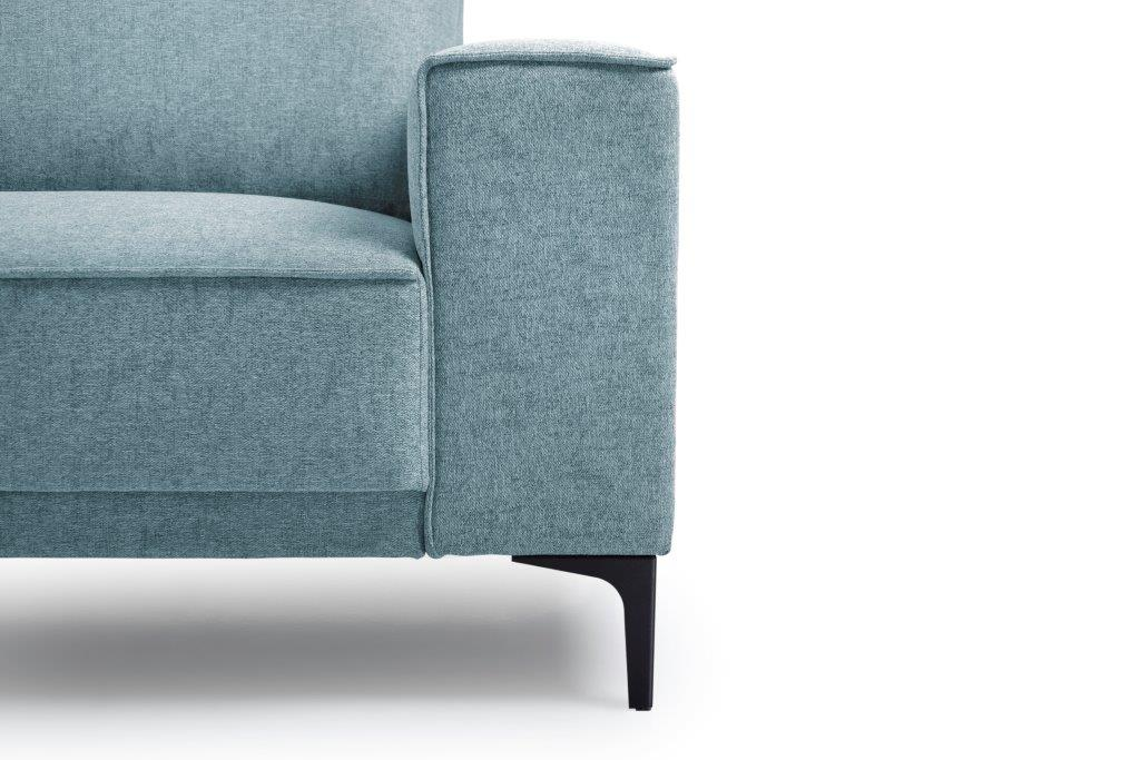 COPENHAGEN open corner with 3 seater (GUSTO 29 sapphire) arm+leg